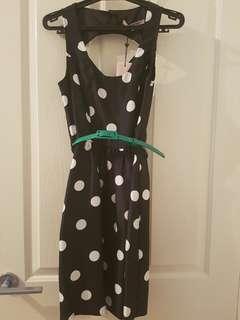 Review polka dot dresss