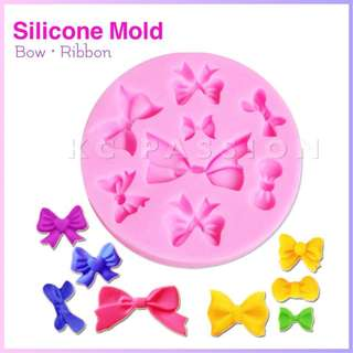 🎀 RIBBON • BOW SILICONE MOLD TOOL for Pastry • Chocolate • Fondant • Gum Paste • Candy Melts • Jelly • Gummies • Agar Agar • Ice • Resin • Polymer Clay Craft Art • Candle Wax • Soap Mold • Chalk • Crayon Mould •
