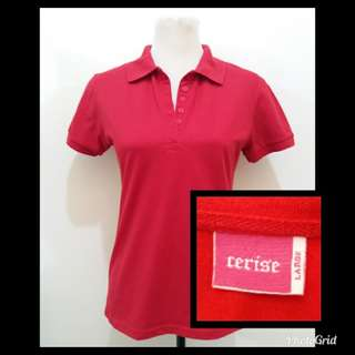 Red Collared Polo Shirt