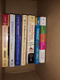 Assorted romance book bundle