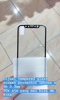 TEMPERED GLASS IPHONE X FULL SCREEN