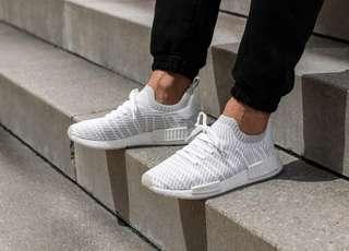 Adidas NMD R1 STLT PK - White Grey Pink