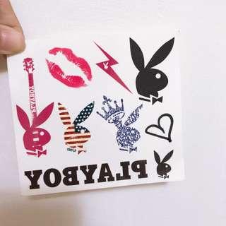 🚚 Playboy 紋身貼紙