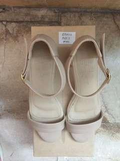 Nude Block-heeled Sandals