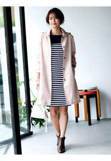 Uniqlo Block Tech Soutien Collar Coat (Size L Pink)