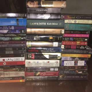 Misc books (James Patterson, Anne Rice, Alex Finn, etc)