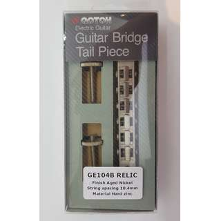 Gotoh Tune-matic Relic Bridge + Gotoh 'Stop' Tailpiece (Bundle Set) - Aged Nickel
