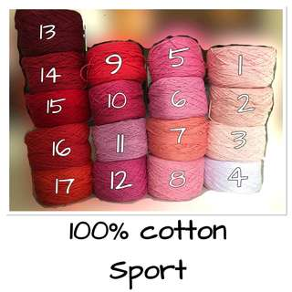 100% soft cotton sport yarn