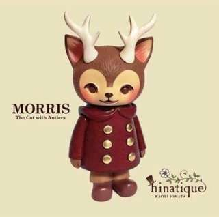 Hinatique MORRIS The Cat with Antlers 紅色 角貓 小鹿先生 附設計師親筆簽名