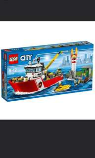 LEGO 60109 - Fire Boat (Brand new and Sealed)
