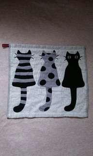 貓咪 雙層紗布巾