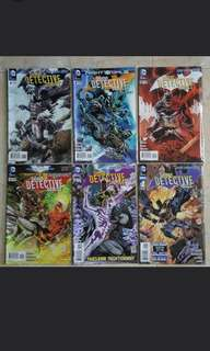 "Detective Comics Batman - DC Comics 6 Issues; #8 to #12 plus Annual #1, complete story arc of ""Scare Tactics"""