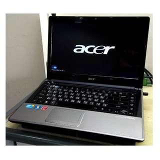 Acer TimelineX Aspire 4820TG 14吋 i5 CPU 高階四核 遊戲雙顯 筆記型電腦