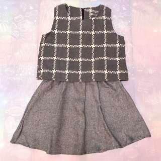 🚚 無袖假兩件洋裝 全新