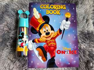 BN Mickey Colour Felt Pens + Disney On Ice Coloring Book *Free postage*