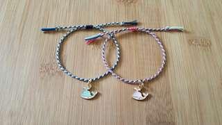 gelang tali (four strand round braid bracelet)