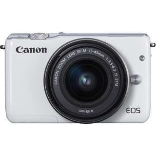 Canon EOS M10 with kit lens WHITE BRAND NEW