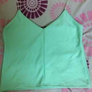 Mint green cami top