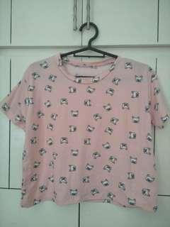 Pastel Pink Cropped Top