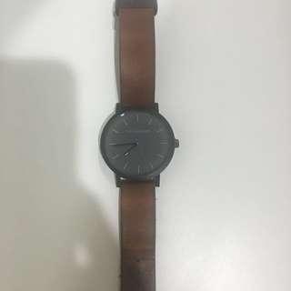 The Horse Watch - Tan wrist black face