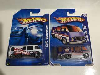 Hotwheels GMC Motorhome Die-cast Set of 2