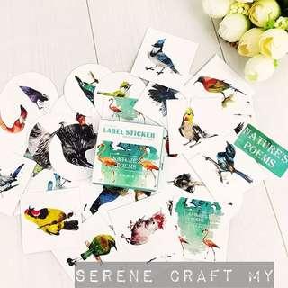 {Last} Set of 40pcs Nature Poem Birds Sticker Pack
