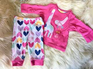 Mothercare Terno Top & Bottom P200 per set (up to 3mos)