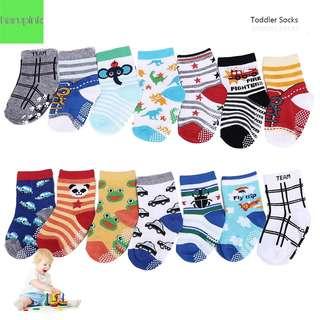 14 Pairs Anti-slip Toddler Socks Baby Infants Socks Assorted Kids Socks A