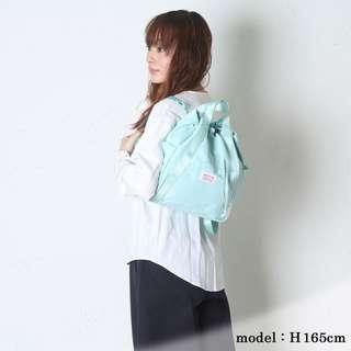 日本樂天 ROOTOTE 淺藍色帆布 索帶式 大細SIZE 背嚢