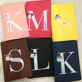 Custom Personalised Passport Holder - Tsum Tsum