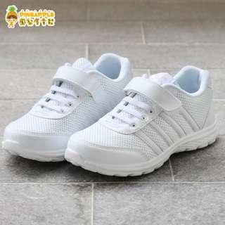 《鳳梨屋童鞋》Bobdog 雅痞簡約透氣運動鞋 學生鞋【B259-5】白色 台灣製造