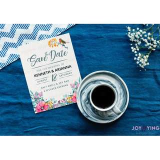 SAVE-THE-DATE Robin Bird w/ Floral