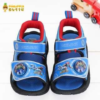 《鳳梨屋童鞋》炫風騎士 熱銷款舒適電燈涼鞋 童鞋【F85316-3】藍色 台灣製造