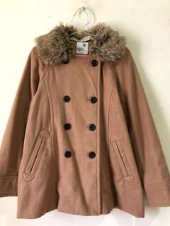 Coat Brown, with Fur