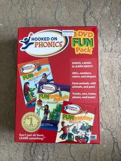 Hooked on Phonics 3-DVD Fun Pack
