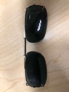Polaroid clip-on sunglasses