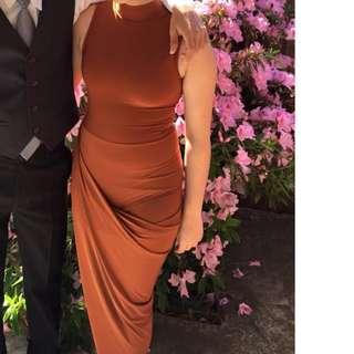 ASOS Bronze wrap dress size small/ 8