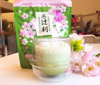 代購-日本京都名店辻利限定櫻花風味抹茶牛奶