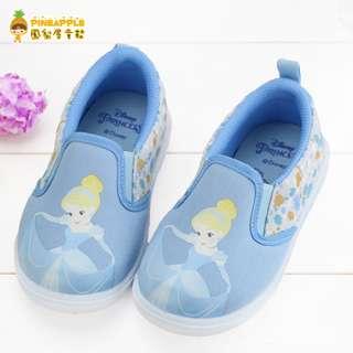 《鳳梨屋童鞋》迪士尼 仙杜瑞拉 仙履奇緣 超柔軟休閒鞋 帆布鞋 童鞋【i318307-3】藍色 台灣製造 含運價