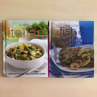 🍝EVERYDAY🐟 Italian + Fish & Seafood Hard Cover Cook/ Cooking/ Recipe Book