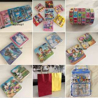 Children birthday goodies bag, party supplies, goody bag gift, goodie bag packages, baby shower door gift