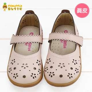 《鳳梨屋童鞋》甜美女孩 柔軟真皮休閒鞋 娃娃鞋【W3178-1】粉色 含運價