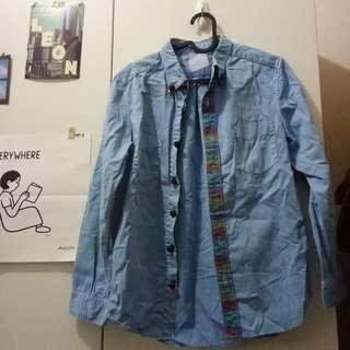 🚚 日式古著襯衫 釦子和門襟都很講究