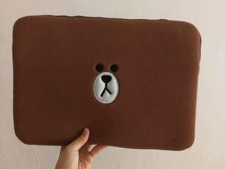 "LINE Brown 15"" Laptop Pouch"