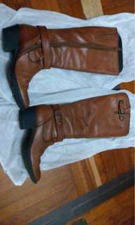 Brown leather boots jipi japa