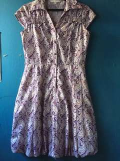 Simple match printed dress