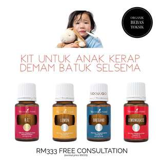 Kit anak selsema batuk demam with young living essential oils
