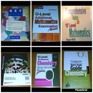 [BUNDLE SALE] O levels English, chemistry, physics, A Math guidebooks