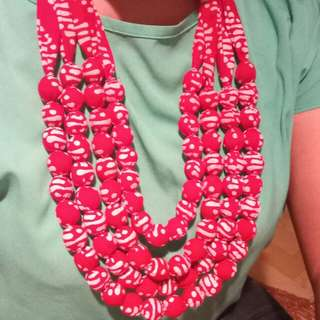 Kalung batik bola-bola susun 4