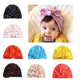 Europe United States Dot Fashion Rabbit Head Cap For Baby Girl